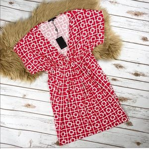 Tart Collection Red and White Squared Dress